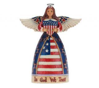 Jim Shore Heartwood Creek Patriotic Angel Figurine —
