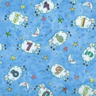 Counting Sheep Numbers Patrick Lose Timeless Treasures Fabric Yardage