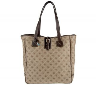 Dooney & Bourke Signature Quilt Large Tote Bag with Leather Trim