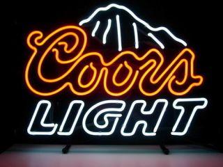 Coors Light Beer Bar Neon Light Sign Me