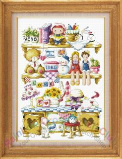Doll House Counted Cross Stitch Kit by DMC Thread
