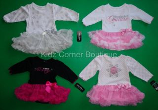 Infant Girls Baby Glam Ruffle Skirted Holiday Creeper New