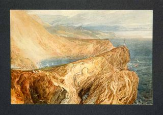 1909 Print Lulworth Cove Joseph Mallord William Turner Sea Seascape