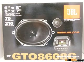 JBL GTO8608C 6x8 5x7 2 Way Crossover Component Audio Car Speaker