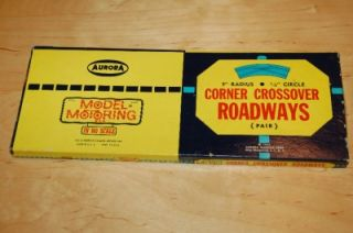 Motoring HO Scale Slot Car Corner Crossover Roadways in Box