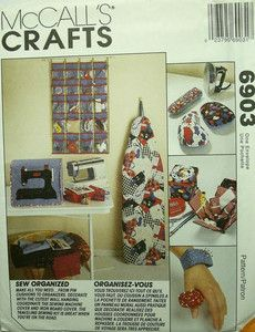 McCalls Sewing Access Machine Cover Sewing Box Pin Cushion Etc Pattern