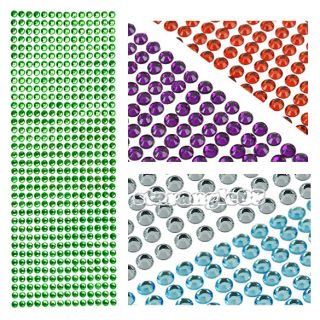 Colorful Crystal Bling Diamond Sticker Decal for Car Phone  MP4