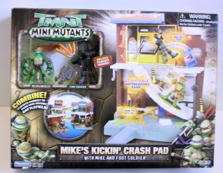 Turtles TMNT Figure Lot Mini Kickin Crash Pad Michaelangelo