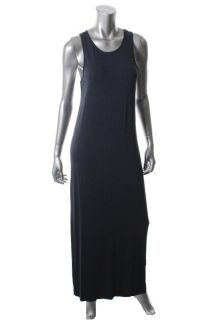 Theory New Cordell Blue Solid Sleeveless Scoop Neck Maxi Casual Dress