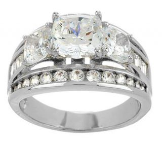 Epiphany Diamonique 100 Facet Cushion Cut Ring —