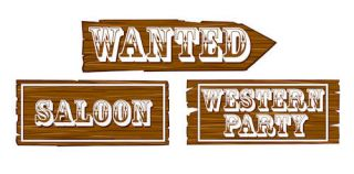 Western Cowboy Birthday Kids Party Scene Cutouts 3 Pack Wild West