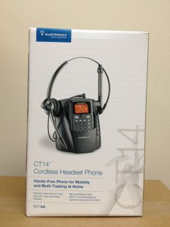 New in Box Plantronics CT14 Cordless Headset Phone