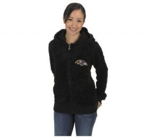 NFL Baltimore Ravens Womens Teddy Bear Jacket —
