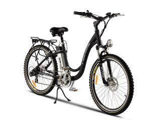 Treme Scooters   XB 305 Li   ELECTRIC Cruiser Bike   Black Bicycle