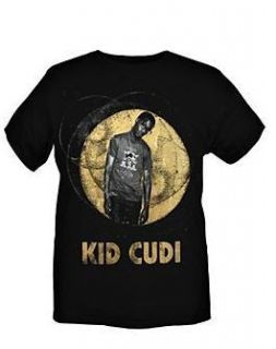 Kid Cudi Gold Foil Moon T Shirt New Music Band Concert Tour Slim Fit