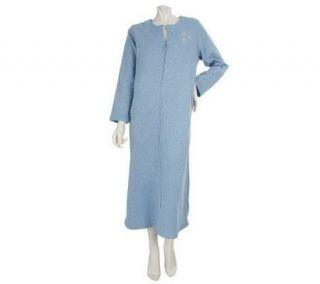 Stan Herman Snowflake Heather Brushed French Terry Zip Caftan