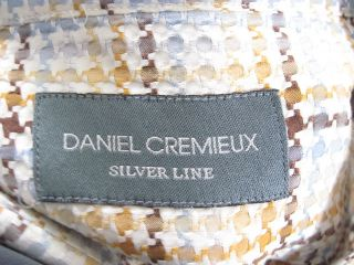 you are bidding on a daniel cremieux men s houndstooth dress shirt in