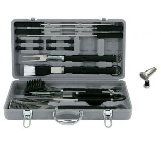 Mr. Bar B Q 18 Pc SS Tool Set w/Magnetic GrillLight   H361362