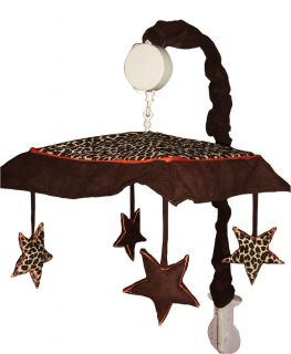 Musical Mobile for Brown Zebra Baby Crib Bedding by Sisi Baby Design