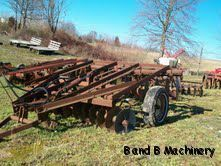 International 8' Wheel Disc Plow Cultivator
