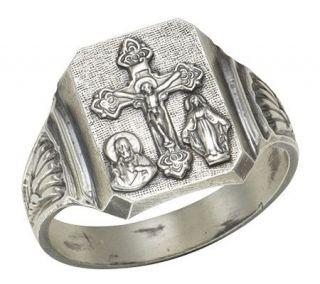 Sterling Silver Bold Scapular Ring   J303771
