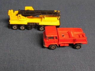 Die cut toy red truck made in Hong Kong by yatming crane Mattel 1987