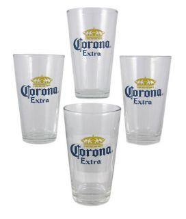 Corona Extra Beer Bucket Set Pint Glasses Coasters