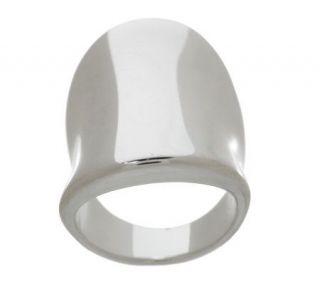 Sterling Bold Polished Saddle Ring —