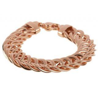 Bronzo Italia 8 Polished Woven Curb Link Bracelet   J273059