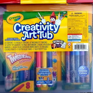 New Crayola Kids Art Craft Supply Set Activity Kit Tub
