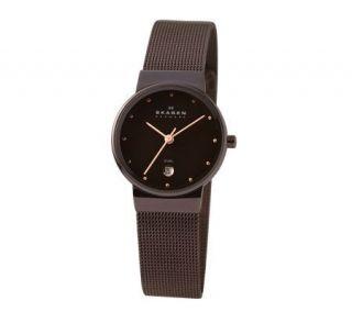 Skagen Denmark Womens Brown Steel Watch   J113132