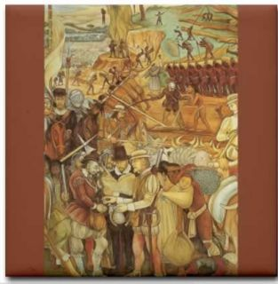 Diego Rivera   The Conquest or Arrival of Hernan Cortes in Veracruz