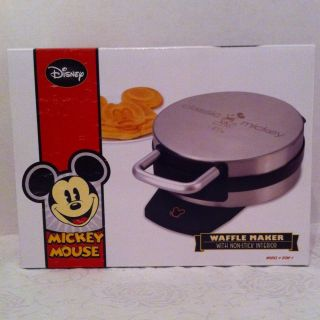 Disney Mickey Mouse Stainless Steel Non Stick Waffle Iron Maker