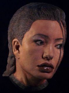 ANGELINA JOLIE life mask as LAURA CROFT in COLOR