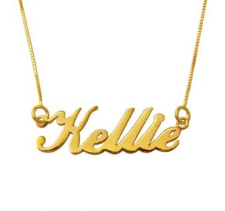 Any name personalized gold plated silver name necklace/pendants
