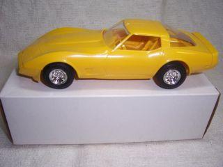 1980 CHEVY CORVETTE COUPE ORIGINAL 1/25 MPC YELLOW PROMO CAR MIB