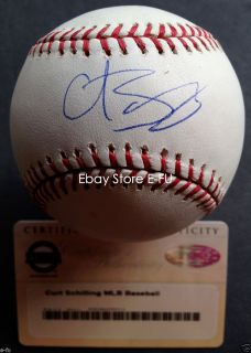 Curt Schilling Signed MLB Baseball Autograph Steiner Certified Auto w
