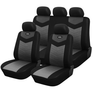 Synthetic Leather Semi   Custom Car Seat Covers 40 60 full split Onyx
