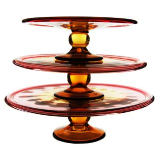 Tier Glass Cupcake Holder Cake Stand Set of Three 3 Party Event