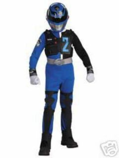 SPD Blue Power Ranger Costume Deluxe Med 7 8 NIP