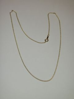 DAINTY 16 CHAIN NECKLACE 14K YELLOW GOLD PERFECT FOR PENDANTS N/R