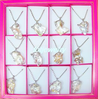 natural pearl pendant necklaces 12 the necklace long 45cm copper chain