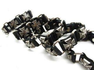 5pcs Mens Cross Wholesale Belt Leather Bracelet Punk