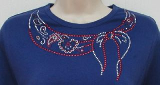 Rhinestone Embellished Tee Shirts Red Hat Society Colors