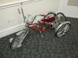 Custom Chrome Lowrider 3 Wheel Tricycle Trike Bike Bicycle Cruiser