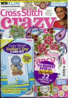 Cross Stitch Crazy Magazine July 2012 Issue 65 Fizzy Moon Fathers Day
