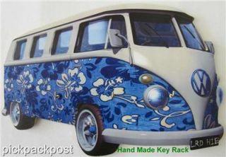 Wooden Wall Key Rack Hand Cut Shaped Novelty Funky Key Hooks VW camper