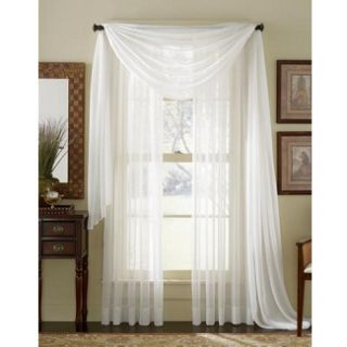 HLC.ME   4 PCS. of White Sheer Curtains Window Treatment Panel
