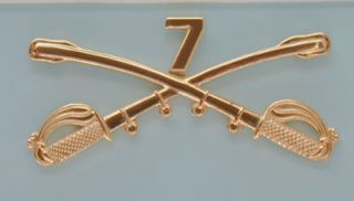 NICE REPRODUCTION OF CUSTERS 7TH CALVARY REGIMENT INSIGNIA PIN