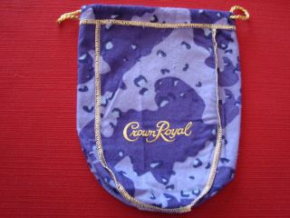 NICE Crown Royal CAMO purple felt camouflage Bag quilts hunting